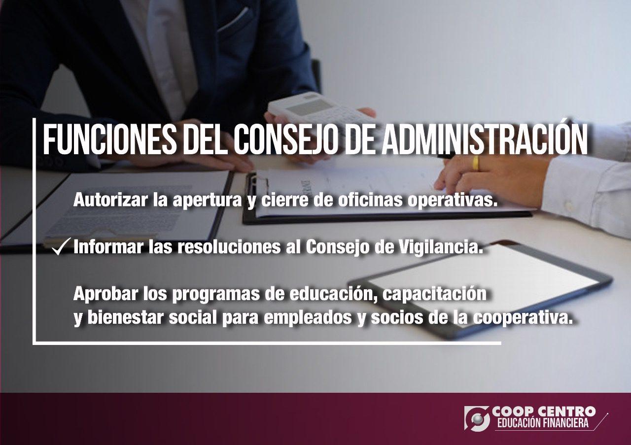 Funciones del Consejo de Administración